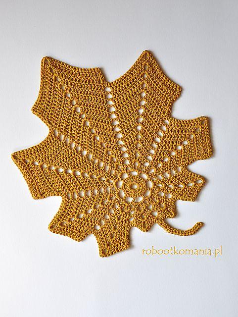 Ravelry: Autumn leaf pattern by Sylwia SzB