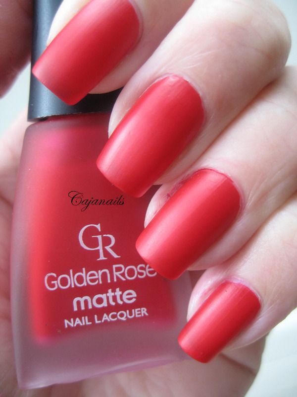 Golden Rose Matte nr. 2 swatched by Cajanails http://www.youtube.com/cajanails