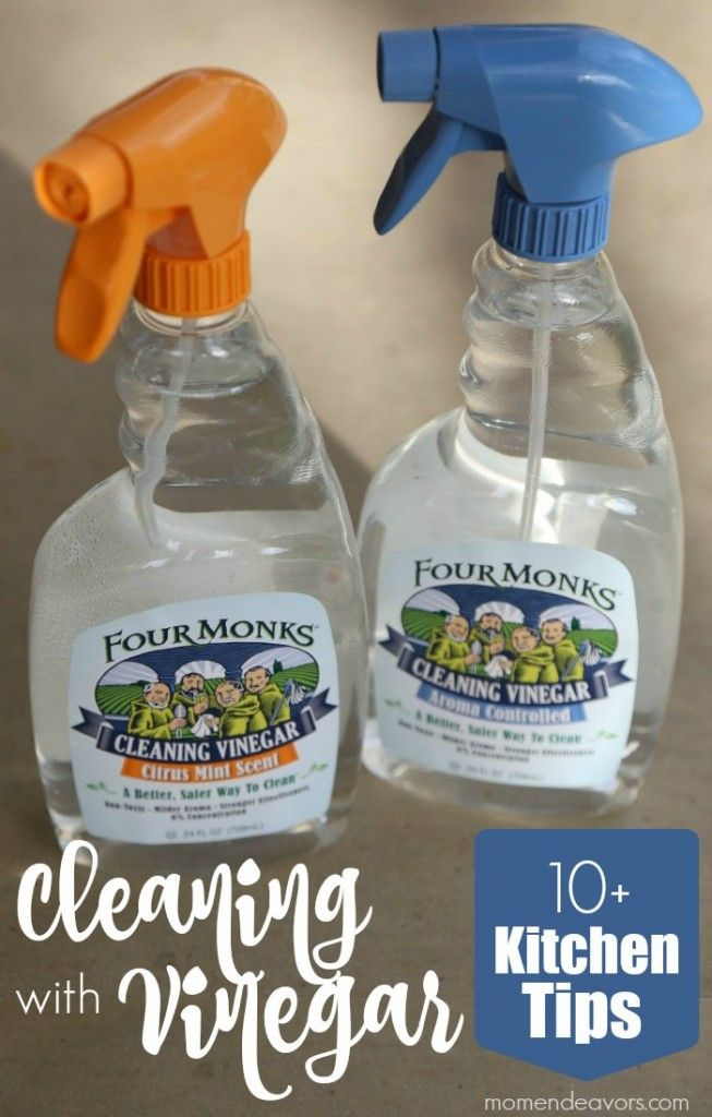 Non-Toxic Home Cleaner – 10+ Kitchen Uses for Vinegar. FourMonksClean AD