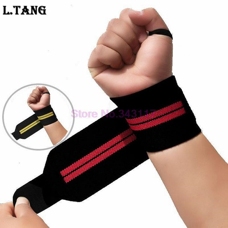 Sports Weightlifting Wrist Support Fitness Training Gloves Weight Lifting Wrist Bands Straps Wraps Gym Weightlifting S350