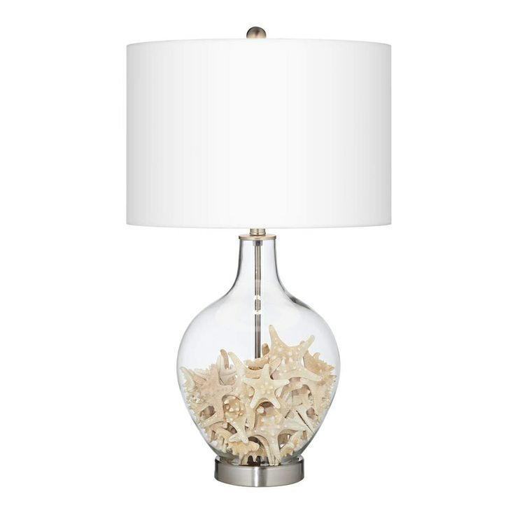 Beach Glass Lamps Filled Bright Decorating Idea