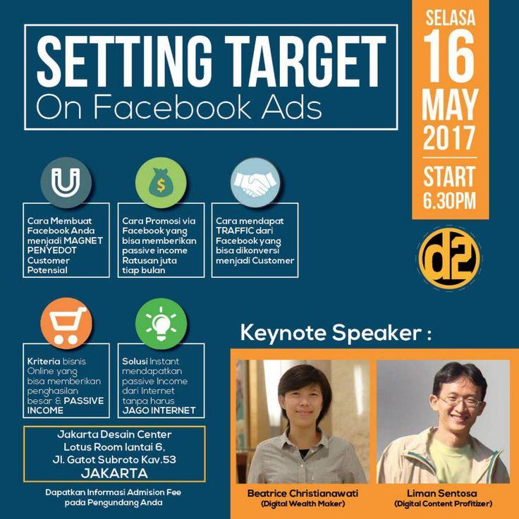 Tiket seminar setting target on facebook ads