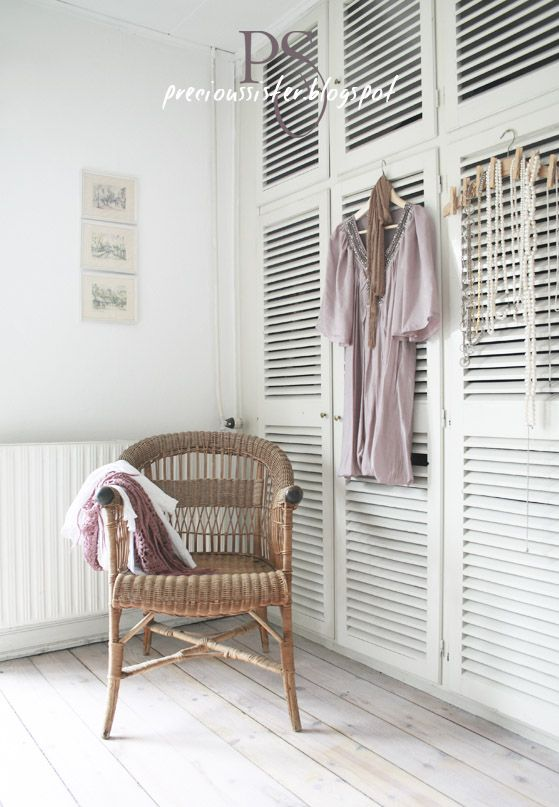 *shutter style wardrobe doors *would be nice to have big slats for a more contemporary look