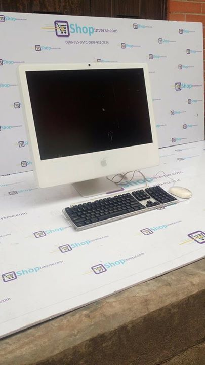 NEW YEAR PROMO!!!  We are giving out clean UK Used Apple iMac All in One Computers with 500GB HDD, 4GB RAM at a cheaper wholesalers price (N50,000)  Grab Yours Now!!  #Apple_iMac #Limited_Stock  #uk_uklaptops Brand name : Apple  Model : iMac  Processor type : Intel core  Processor speed : 2.20GHz  HDD : 500GB, 1TB Max Hard disk drive  Ram : 4gb , 8gb upgradable memory HD Camera (webcam) : yes Drive : DVD-RW / DVD+RW Bluetooth : yes Wireless network WiFi : yes Operating system : Mac OS and…