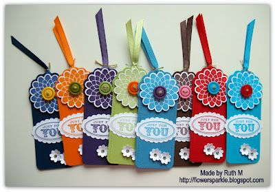 Saturday, 17 March 2012 Flower Sparkle: A Bag Of Tags - Simply Stampin' Challenge #51 Button Buddies
