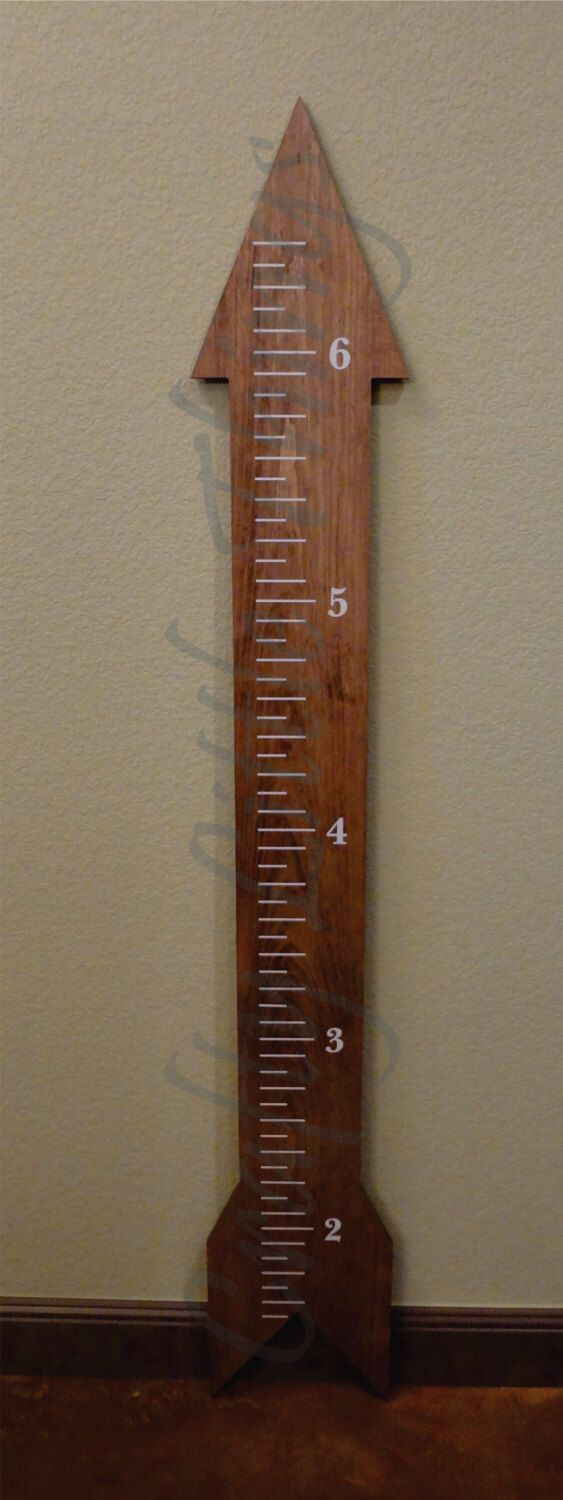 Arrow Growth Chart hunting theme baby shower gift  birthday gift by CraftyLittleThings2 on Etsy https://www.etsy.com/listing/223752634/arrow-growth-chart-hunting-theme-baby