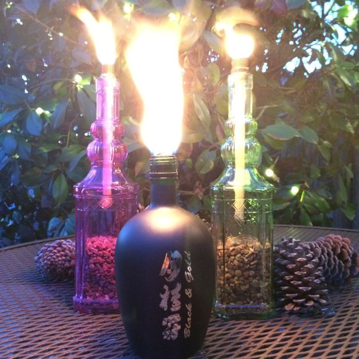 Asian inspired decorative glass table top tiki by TyrasTikiTorches, $20.00