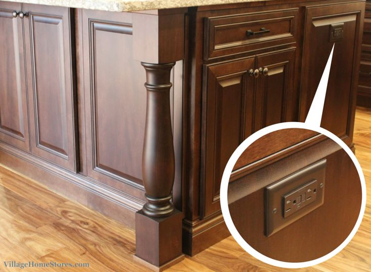 An Outlet Is Perfectly Camoflauged On The End Of A Kitchen Island