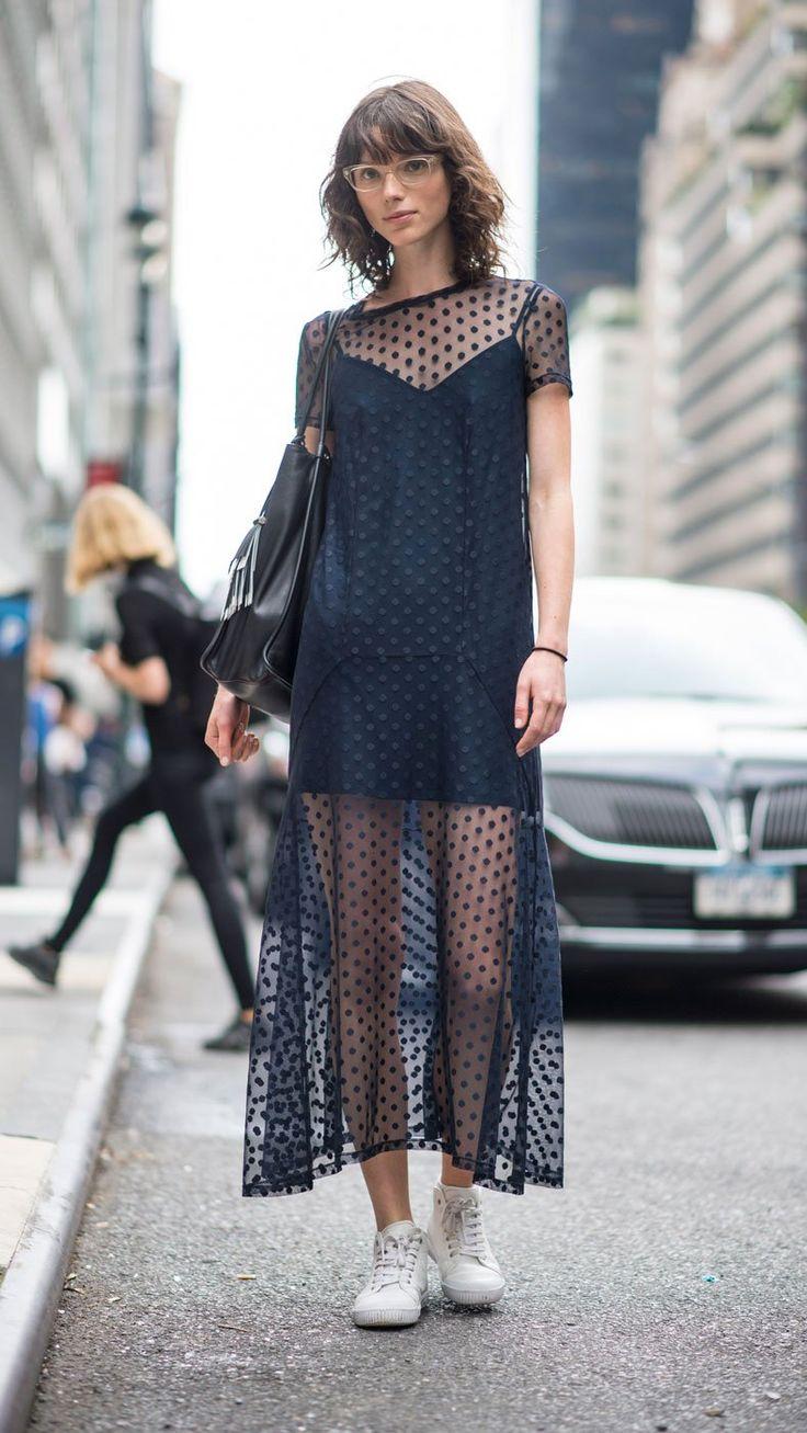 Le plumetis - Street styles : les plus beaux looks de la Fashion Week printemps-été 2017