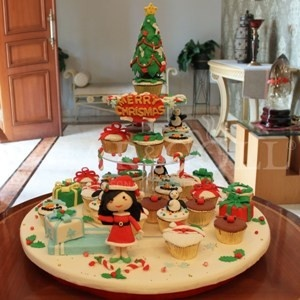 Amelia Christmas Cupcakes Tower (24pcs cupcakes)