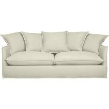 linen couch slipcover - cushion edge