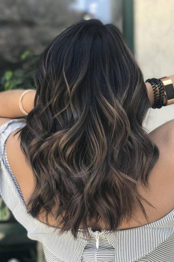 Stylish brunette balayage short hair! #brunettebalayageshorthair