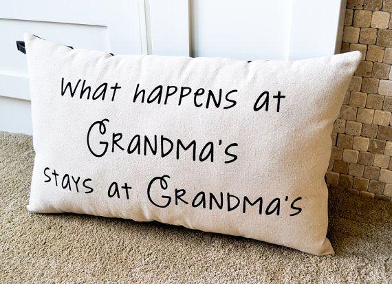 Canvas Pillow, New Grandma Gift, Grandma Pillow, Mothers Day, Home Decor, Nana, Grandparent Gift, Quote Pillow, Grandma, Grandmother Gift