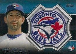 2013 Topps Series 1 Baseball Commemorative Patch CP-6 Jose Bautista