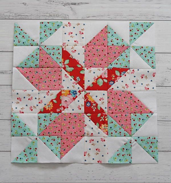 Spring Breeze 12 Inch Quilt Block Pattern In 2020 Quilting Methods Quilt Blocks Beginner Quilt Patterns