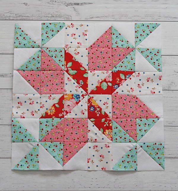 Spring Breeze 12 Inch Quilt Block Pattern In 2020 Quilting Methods Quilt Blocks Beginner Quilt Patterns