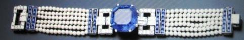 The 35.54 carat Ceylon sapphire, pearl and diamond bracelet    © Doris Duke Charitable Foundation