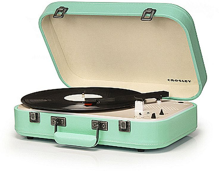 Crosley Suitcase Record Player Turntable Coupe With Speaker Bluetooth In Teal #Crosley #Retro