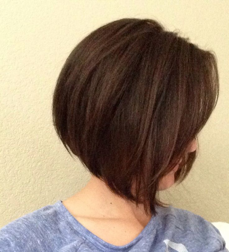 Short A Line Bob With Side Swept Bangs Hairstyles Hair