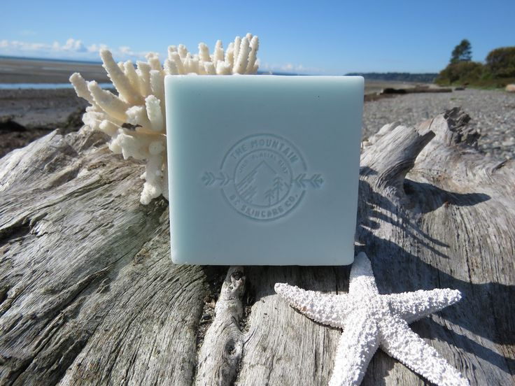 """""""OCEAN SURF"""" ~ BC Wild Glacial Clay Organic soap ~ Made by: THE MOUNTAIN: BC SKINCARE CO. for $15.00 CAD bcmnt.skincareco@gmail.com"""
