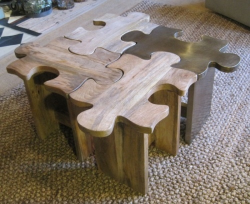 puzzle stool/table and other neat ideas for useful decorating/repurposing
