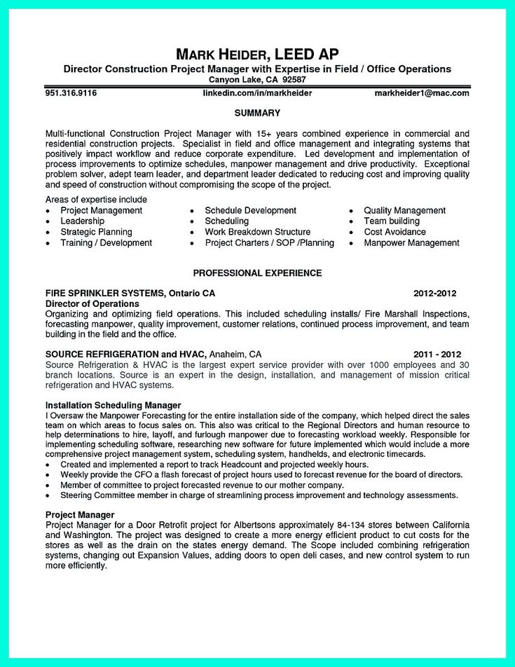 cool Simple Construction Superintendent Resume Example to Get Applied, Check more at http://snefci.org/simple-construction-superintendent-resume-example-get-applied