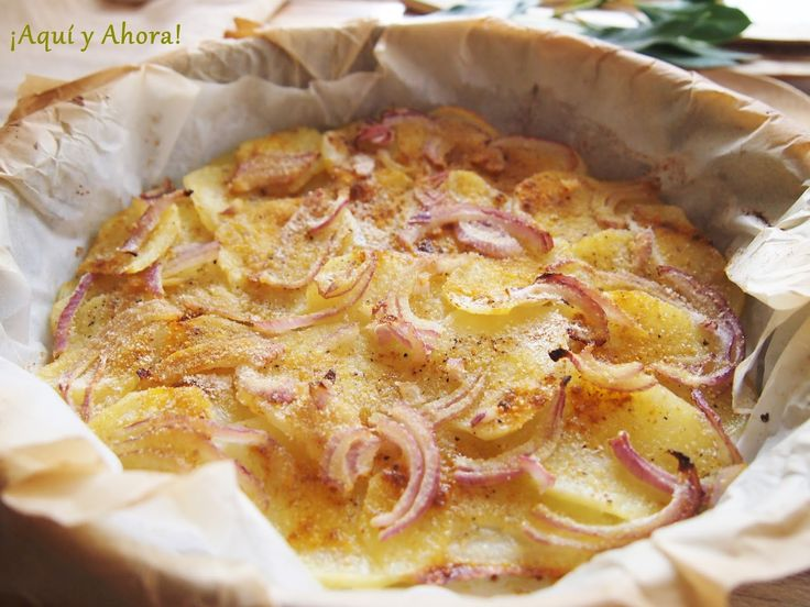 ¡Aquí y Ahora!: Patatas gratinadas al horno