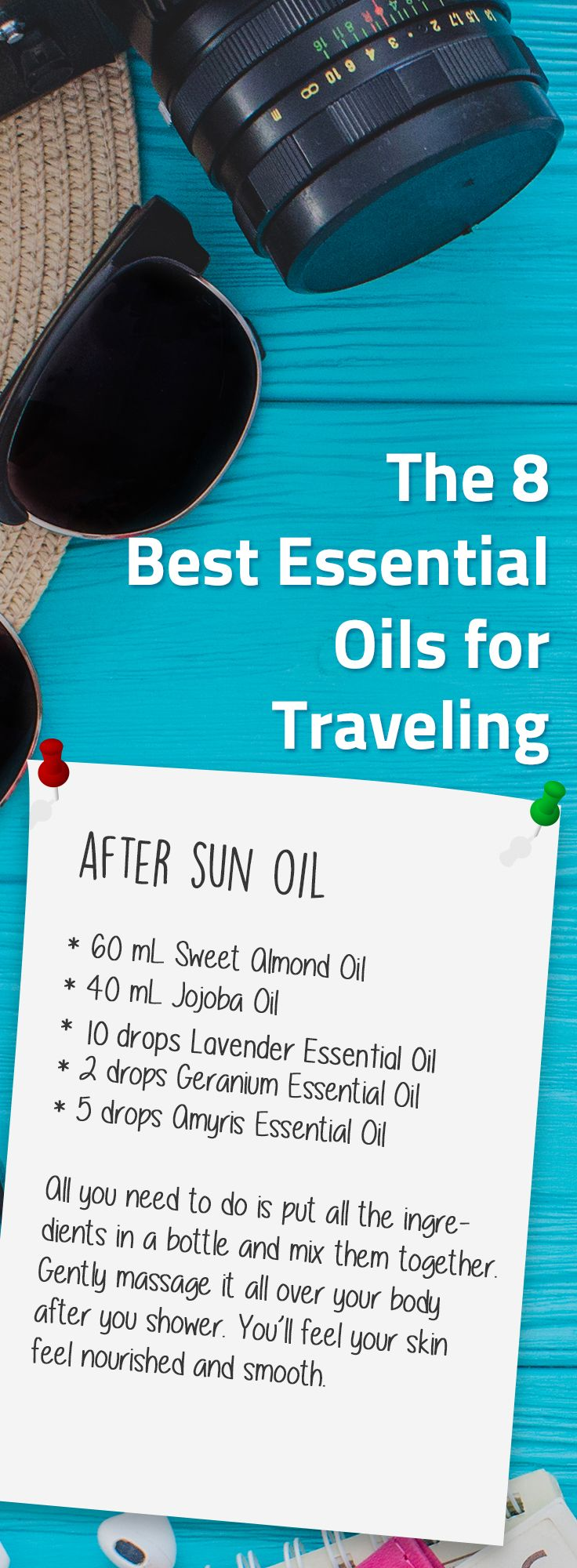 """Staying under the sun for a long time, your skin suffers the most. Having fun makes you forget about the heat and you end up with a bad sunburn. That's why it's important to """"return"""" the moisture to your skin. You can do this by making this simple yet very helpful #aftersunoil with only natural ingredients."""