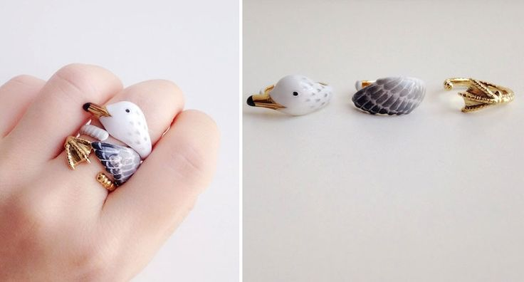 These Animal Rings Come Alive When 3 Pieces Are Put Together | Bored Panda