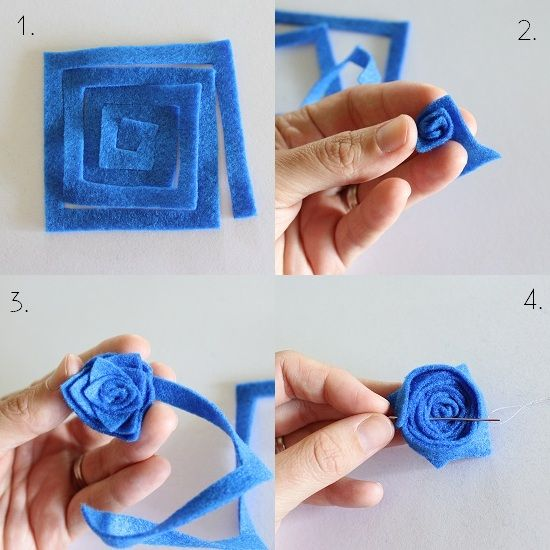 This looks simple and different from other felt flower diy