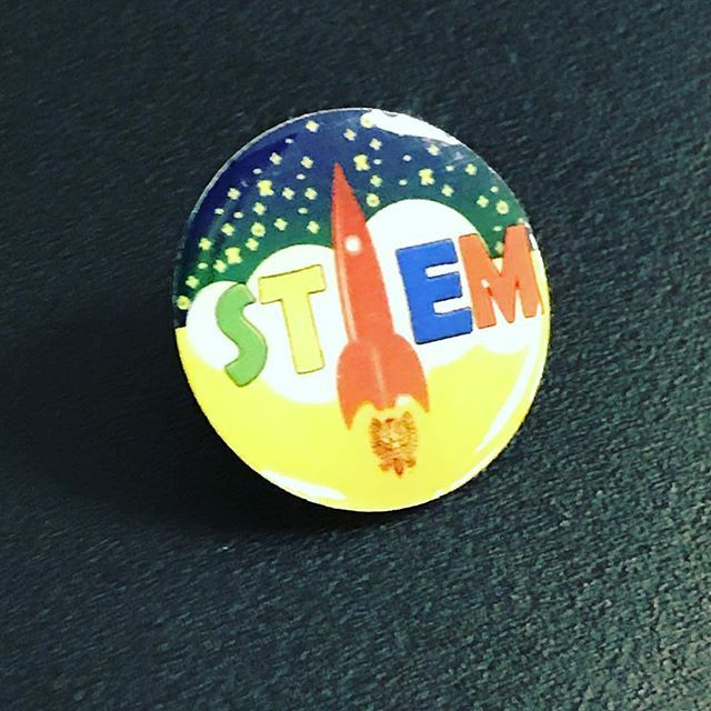 Printed STEM Badge for Schools by i4c Publicity Ltd #badges #pingame