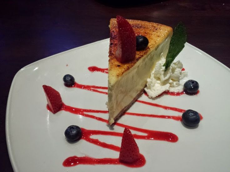 Creme Brulée Cheesecake at Firebirds Wood Fired Grill.