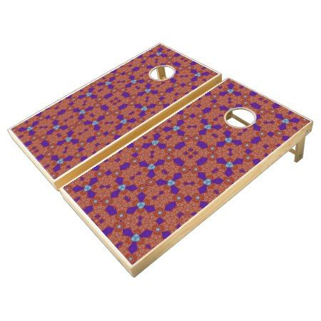 cool trendy colorful pattern cornhole set - tap to personalize and get yours