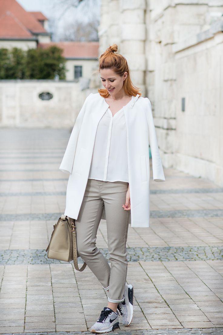 1.2.3 Paris - Linda du blog Lindarella porte la blouse Beauty, le manteau Barnabe  et le pantalon freddy printemps-été 2016 #123paris #streetstyle #ootd #mode #fashion #shopping #blogueuse #blogger #blogueusemode #fashionblogger #printemps #spring #été #summer