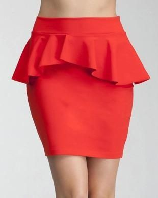 Bebe Peplum Knit Pencil Skirt : Rs, 5,000/- http://www.findable.in/bebe?=60 | Findable.in