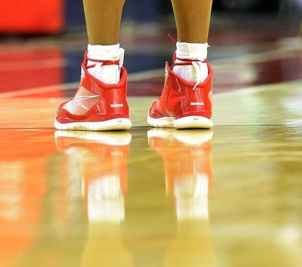 Andre Miller's shoelaces and socks - The Washington Post