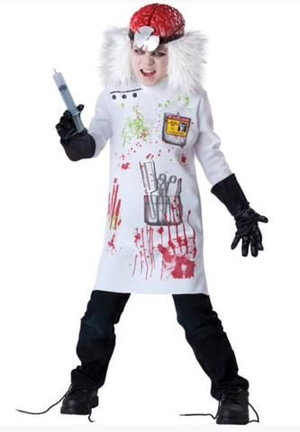 KIDS MAD SCIENTIST DRESS UP COSTUME 10-11YR BY INCHARACTER