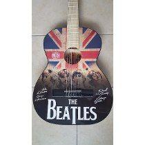 Guitarra Acústica The Beatles Flag Great British Y Funda