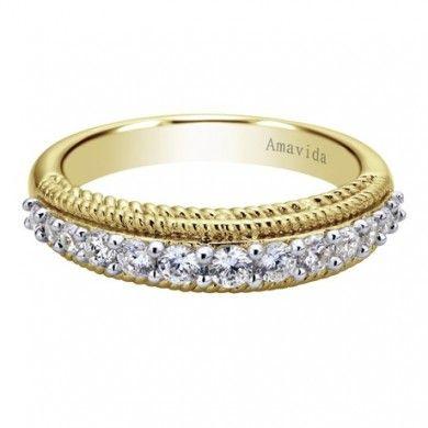 0.50 ct F-G SI Diamond Straight Wedding Band In WB3998M83JJ