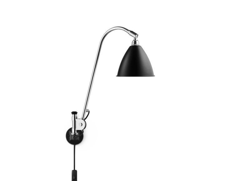 Nástěnná lampa Gubi Bestlite BL6 černá s vypínačem