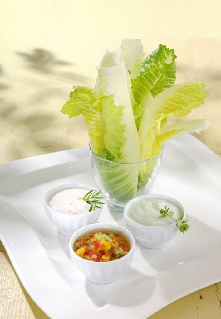 SALARICO SALATBAR MIT DREIERLEI DIPS - Alle drei Dips mit den Zutaten und der Zubereitung finden Sie hier: http://behr-ag.com/de/unsere-rezepte/rezeptdetail/recipe/salatbar-mit-3erlei.html