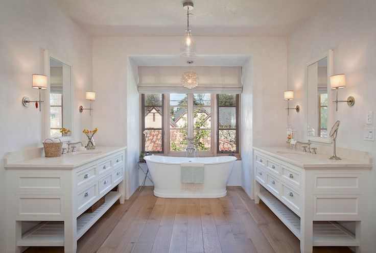 130 best bathroom design decor images on pinterest for Country master bathroom ideas