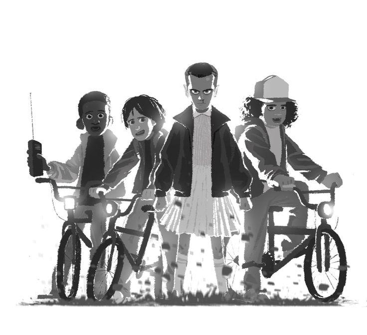 Stranger Things - Lucas, Mike, Eleven, Dustin