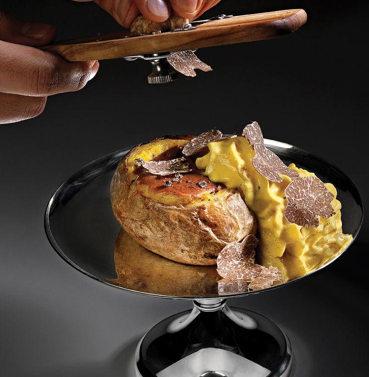 A very special potato at Osteria Francescana -   Massimo Bottura.