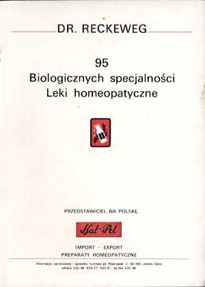 95 biologicznych specjalności. Leki homeopatyczne. Katalog firmy Dr. Reckweg and Co., Dr. Reckweg & Co., b/r, http://www.antykwariat.nepo.pl/95-biologicznych-specjalnosci-leki-homeopatyczne-p-1404.html