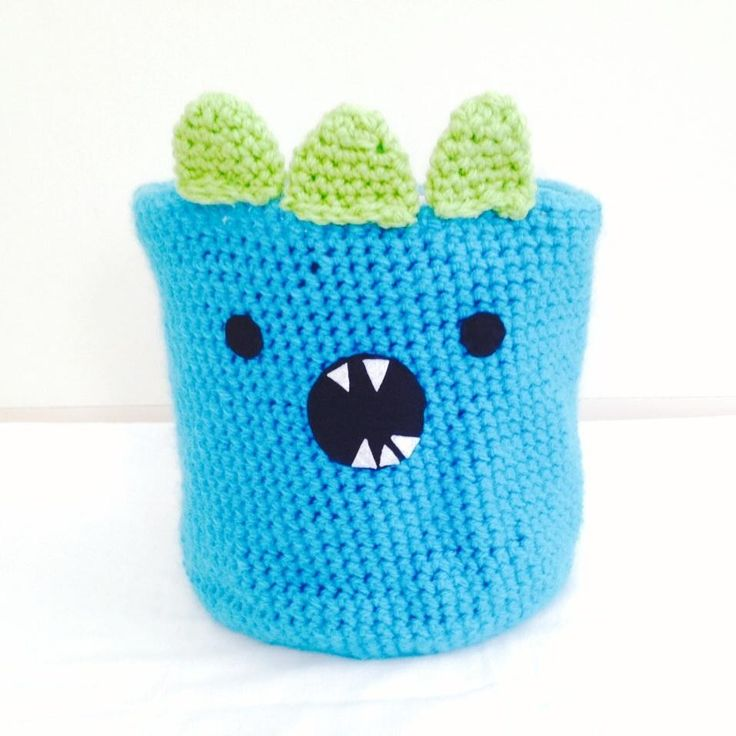 $15 Crochet Monster Basket by IsabelleMaryCreations on Handmade Australia
