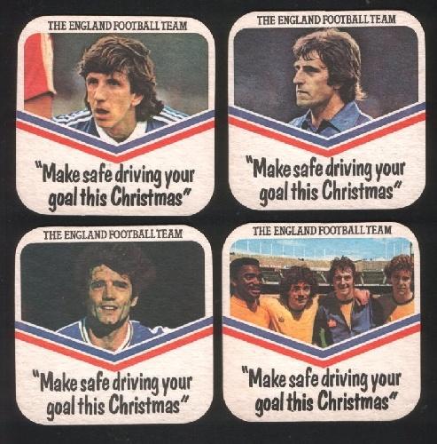 """""""Make safe driving your goal this Christmas"""" England football team 1979"""
