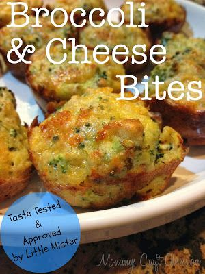 Broccoli and Cheese Bites - Taste Tested & Approved by Little Mister | Mommys Craft Obsession