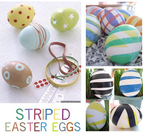Easter eggsSeasons Crafts, Eggs Recipe, Eggstroidinari Eggs, Colors Eggs, Easter Crafts, Easter Eggs, Rubber Band, Eggs Decor, Offices Supplies