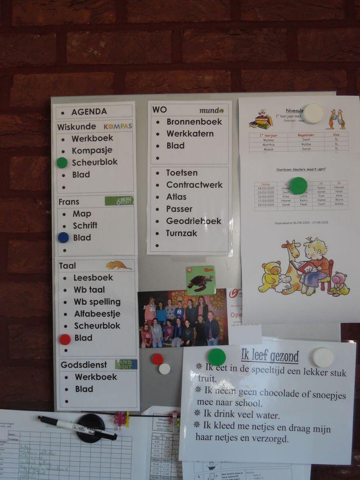 Welk schoolmateriaal moet mee naar huis? > magneet 6de leerjaar